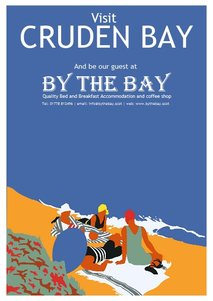 By The Bay  women on beach poster