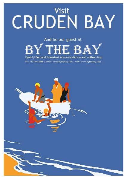 By The Bay pleasure boat poster